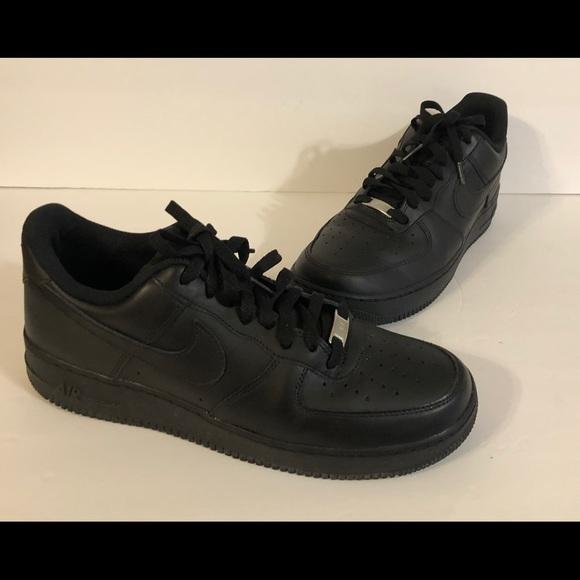 Nike Men's Air Force 1 Black 10.5